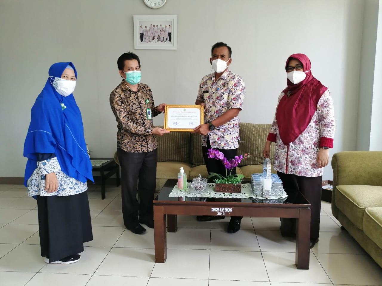 RST Raih Penghargaan Rumah Sakit yang tidak Menggunakan Alkes Bermerkuri