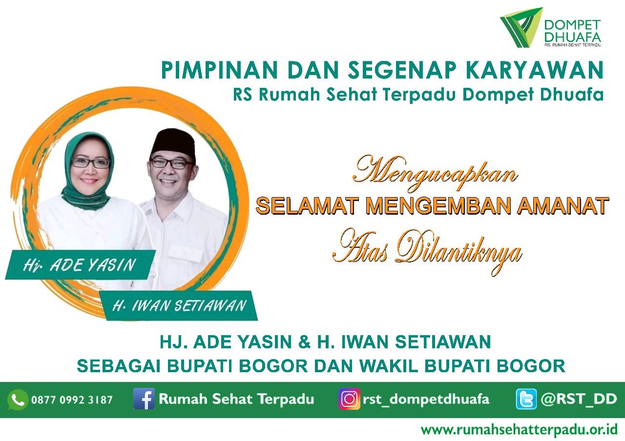 Selamat Atas Dilantiknya Bupati & Wakil Bupati  Bogor Baru 2018-2023